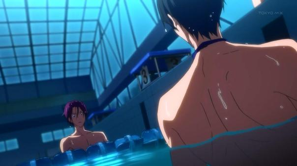 Image result for free iwatobi swim club haru and rin race